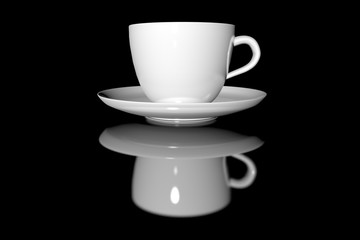 Coffee cup on a dark background