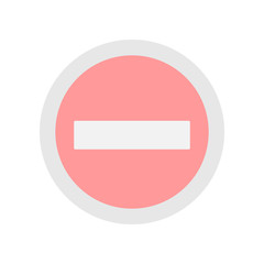 stop sign colored icon. Element of colored construction sign for mobile concept and web apps. Color stop sign icon can be used for web and mobile