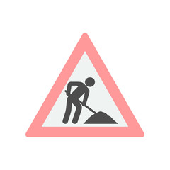 road sign repair colored icon. Element of colored construction sign for mobile concept and web apps. Color road sign repair icon can be used for web and mobile