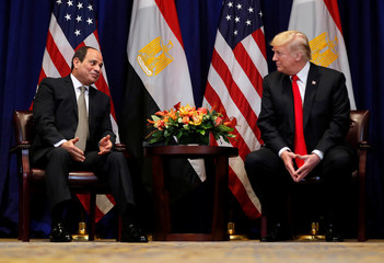 U.S. President Trump holds bilateral meeting with Egypt's President el-Sisi on the sidelines of the 73rd United Nations General Assembly in New York