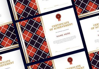 Argyle Certificate Layout
