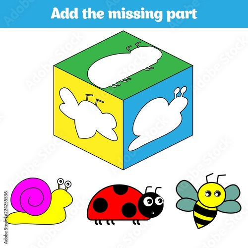 Puzzle Game Visual Educational Game For Children Task Find The