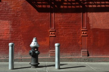 Street view in Chinatown, NYC, USA.