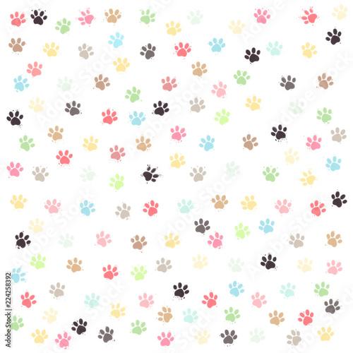 Huellas De Perro De Colores Fotos De Archivo E Imágenes Libres De