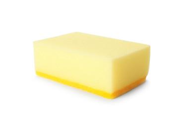 Cleaning sponge for dish washing on white background