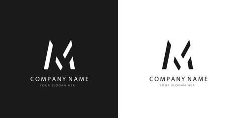 M logo letter modern design