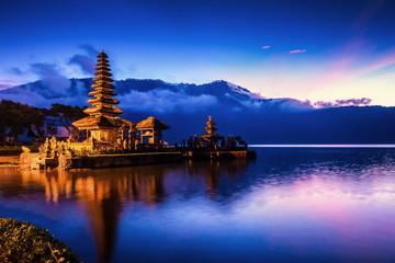 Pura Ulun Danu Bratan Temple, Hindu temple on Bratan lake, Bali, Indonesia