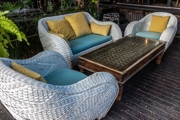 Rattan garden furnitures