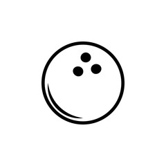 Bowling ball icon. Element of balls icon for mobile concept and web apps. Detailed Bowling ball icon can be used for web and mobile