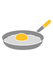 design eigelb spiegelei ei eiweiß cool köchin grillen essen lecker hunger kochen braten chef koch schürze küche frühstück pfanne comic cartoon clipart