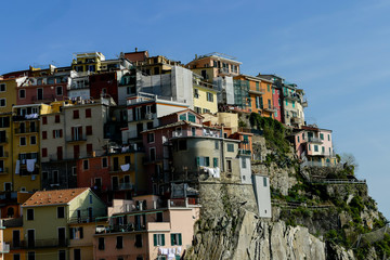 view of manarola in cinque terre italy