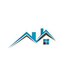 real estate logo house roof design vector