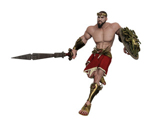 hercules the greek hero in a white background