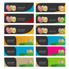 easter egg banner vector