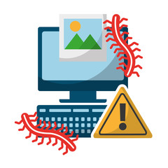 computer alert sign picture worms data protection
