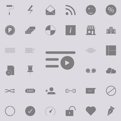 Play icon. web icons universal set for web and mobile