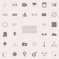 Align center icon. web icons universal set for web and mobile