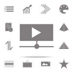 online video play button icon. web icons universal set for web and mobile