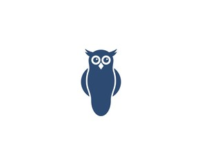Wall Murals Owls cartoon Owl logo