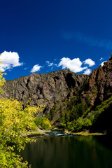 The Gunnison River flows through Black Canyon of the Gunnison National Park in Colorado