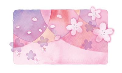 桜の背景イラスト