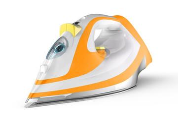 White and orange electric iron