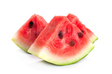 Oval watermelon on white