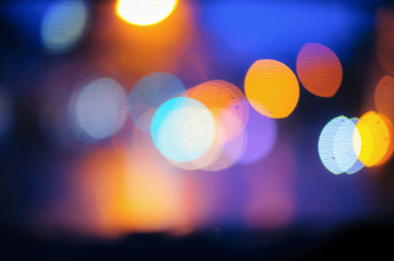 abstract of defocused bokeh light background