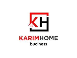 initial KH real estate logo Designs Inspiration