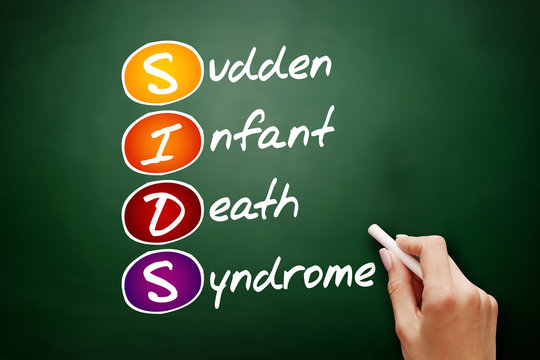 SIDS - Sudden Infant Death Syndrome acronym, concept on blackboard