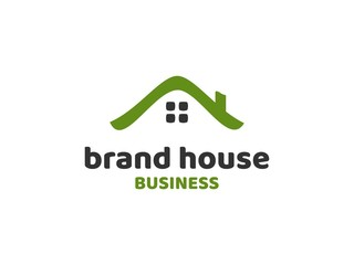 Beach house logo vector illustration