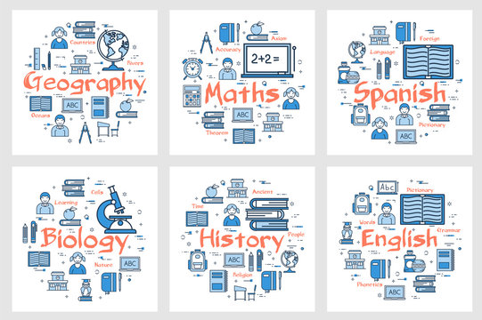 Geography, history, maths, languages and biology