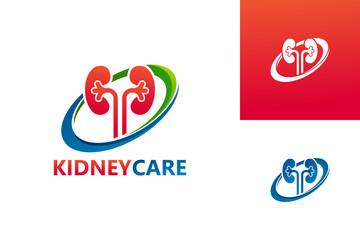 Kidney Care Logo Template Design Vector, Emblem, Design Concept, Creative Symbol, Icon