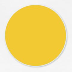 Round empty yellow circle vector illustration