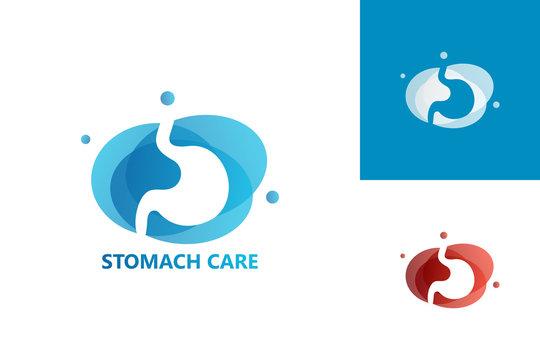 Stomach Care Logo Template Design Vector, Emblem, Design Concept, Creative Symbol, Icon