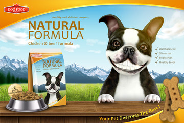 Funny dog food advertisement