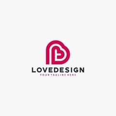 Love social logo design vector