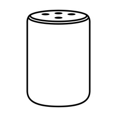 Medium size plus smart speaker virtual assistant line art vector icon for apps and websites