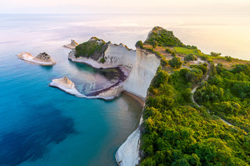 Stores à enrouleur Ile Beautiful view of Cape Drastis in the island of Corfu in Greece