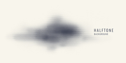 Obraz Monochrome printing raster, abstract vector halftone background. Black and white texture of dots. - fototapety do salonu