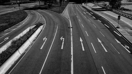 Straße, Straßenführung, leere Straße