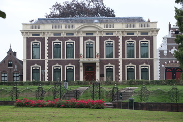 Old building in Haastrecht which is nowadays museum Bisdom van Vliet as legacy of the family bisdom van vliet who used to live in this huge house.