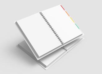 Blank paper notebooks mockup