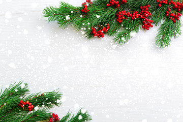 Christmas background with a space for a greeting text