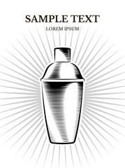 vector banner design of shaker