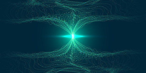 Abstract 3D Big Data Visualization.