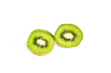 kiwi fruit isolated on white background, Sliced kiwi fruit half isolated