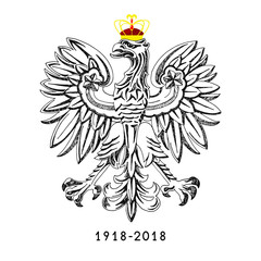 Illustration for the centennial of independence of Poland. Vecto