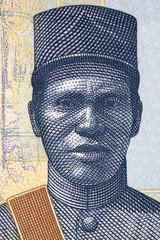 Jose Santos Vargas portrait from Bolivian money