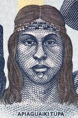 Apiaguaiki Tupa  portrait from Bolivian money
